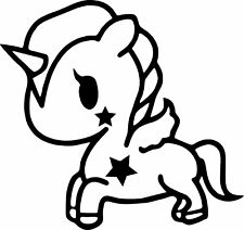 Unicorn decal tokidoki for car,window,laptop etc..