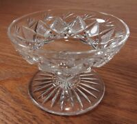 Libbey Signed Crystal Cut Sherbet /Footed Sauce Glass