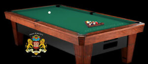 7' Simonis 860 Simonis Green Pool Table Cloth Felt w/ Free Matching Chalk!