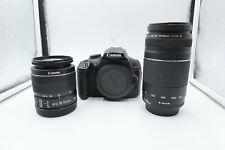 Canon EOS Rebel T6 Digital Camera with 18-55mm & 75-300mm Lenses (U80035)