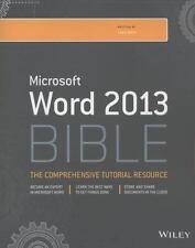 MICROSOFT WORD 2013 BIBLE - BUCKI, LISA A. - NEW PAPERBACK BOOK