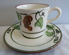 STANGL PATTERN GOLDEN GRAPE CUP AND SAUCER  MINT