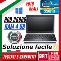 """PC NOTEBOOK PORTATILE DELL E6420 14"""" 2430M CPU i5 RAM 4GB HDD 256GB +WIN 10 PRO!"""
