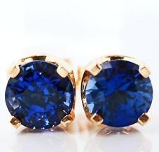 Sapphire Yellow Gold 14k Fine Earrings