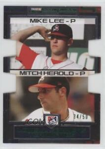 2008 TRISTAR Prospects Plus PROminent Green Die-Cut /50 Mitch Herold Mike Lee