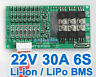 22.2V 24V 25.2V 30A Lthium ion Li-ion Li-Po LiPo Polymer Battery BMS PCB System