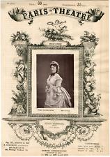 Mercier, Paris-Théâtre, Anaïs Fargueil (1819-1896), actrice et chanteuse Vintage