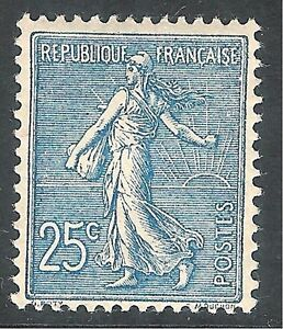 France 1903 Sower blue 25c mint SG318