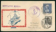 Mayfairstamps Chile 1952 Serrano Destructor Marina Naval Cover wwp81931