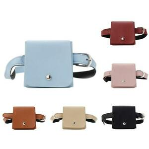 Solid Color Small Fashion Waist Bags Women Leather Messenger Fanny Handbags