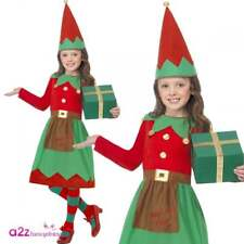 Santa's Little Helper Elf Costume Christmas Outfit for Girls Party Fancy Dress Small Age 4 - 6 Years
