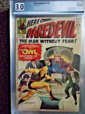 Daredevil #3 graded 3.0 1st Owl