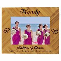 Custom Engraved 4 x 6 Picture Frame for Bridesmaids, Maid of Honor Wedding Gift
