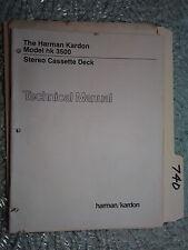 Harman Kardon hk3500 hk 3500 service manual original repair book stereo tape