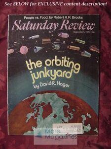 Saturday Review September 5 1970 DAVID R. HAGER ROBERT R. R. BROOKS LEO ROSTEN
