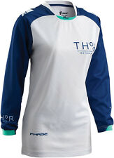 Thor Riding Race MX Motocross Women's Jersey S6W Clutch Navy/White Large