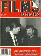 RARE Back Issue - FILMS IN REVIEW Magazine - May 1988 - DONALD TRUMP - Spielberg