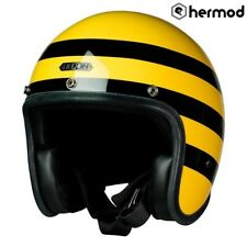 Hedon Hedonist Open Face Motorcycle Motorbike Scooter Crash Helmet - Bumblebee