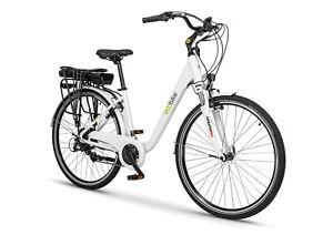 """City Electric Bike eBike EcoBike Basic Traffic Pro e-Bike 19"""" 250W 80 Miles"""