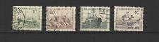 DDR ALLEMAGNE 1961 Y&T N°532 à 535 timbres oblitérés flotte de pêche /T3372