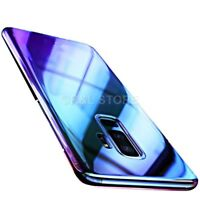 """COVER Per Samsung S7 EDGE S8 S9 / PLUS RIGIDA ULTRA SOTTILE ORIGINALE """"BLUE RAY"""""""