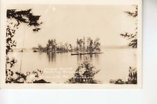 Real Photo Postcard Beaver Creek Tenting Grounds Moosehead Lake Greenville  ME