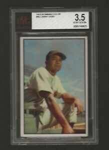 1953 Bowman Color #40 Larry Doby BGS 3.5 REALLY NICE LOOKING CARD OF THE HOF'ER!