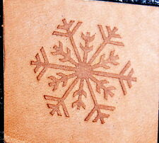 SNOWFLAKE #012  Leather Embossing / Clicker Stamp, Delrin / Acetal, NEW