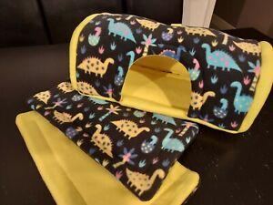 Fleece cage set: foam cave with pee pads - guinea pig