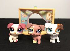 Littlest Pet Shop 151 1475 1200 Jack Russell Terrier Puppy Dog Lot 3 Lps Spotted