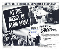 KIRK ALYN SIGNED AUTOGRAPHED 11x14 PHOTO ATOM MAN VS SUPERMAN RARE BECKETT BAS