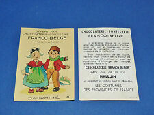 CHROMO CHOCOLATERIE FRANCO-BELGE HALLUIN NORD COSTUMES FRANCE Dauphiné