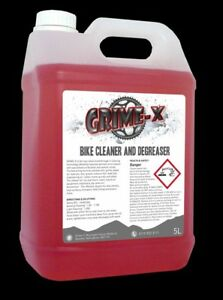 5 Litre PROFESSIONAL BIKE MOTORBIKE CONCENTRATE CHAIN CLEANER DEGREASER Grime-X
