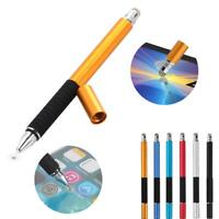 2 in1 Precision Capacitive Touch Screen Pen For iPhone iPad Samsung Tablet
