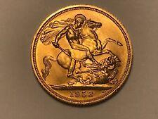 More details for 1958 full gold sovereign queen elizabeth ii. pre decimal portrait. high grade