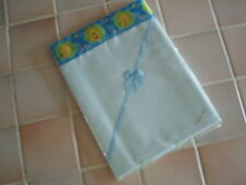 Handmade Baby bedding Pr BLUE COTTON &WINNEthePOOH SATIN flat sheetsCrib/pram