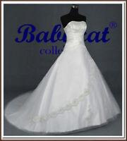 Brautkleid Hochzeitskleid Kleid für Braut Ballkleid SOFORT Schnee Weiß BX903W 58
