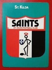 1988 Scanlens Stimorol VFL Trading Card 91 Club Emblem St Kilda Saints