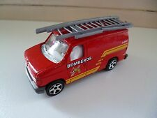 Ford Econoline Bomberos - Majorette - 1/63- Ford Motor Co License - Red - France