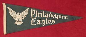 Early 1940's Philadelphia Eagles Federal Style Eagle FullSz Football Pennant Old