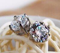1.75Ct Round Cut Delicated D/VVS1 Diamond Stud Womens Earrings 14k White Gold FN