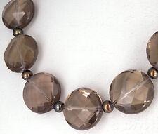 """CUARZO CUARZO AHUMADO Collar """"Piedra"""" con kugelschließe EN PLATA 925"""
