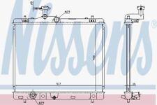 Nissens 64257 Radiator SUZUKI SWIFT 1.2i   10-