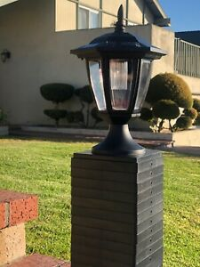 """12 Set Solar Hexagon Black SMD  LED Cap Light for 4"""" 5"""" 6"""" Post Fence"""