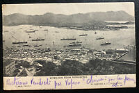 1905 Hong Kong Real Picture Postcard Cover To Paris France Kowloon View