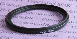 72mm to 62mm Male-Female Stepping Step Down Filter Ring Adapter 72mm-62mm
