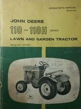 John Deere 110 Round Fender Lawn Garden Tractor & Mower Owner & Parts (2 Manuals