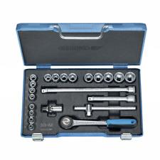 "Gedore 6238300 30 HMU-3 Socket set 3/8"" 22 pcs hex 6-22 mm"