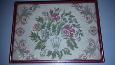 ROLEX ANTIQUE BOX COLLECTIBLE FLOWERS TAPESTRY JEWELRY MOD 50'-60's RETRO GENEVE