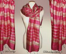 Très jolie étole en SOIE Sauvage coloris rose fuchsia - GSSA-5